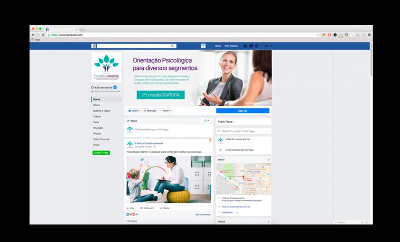 facebook clínica creativamente