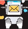 ícone conteúdo email