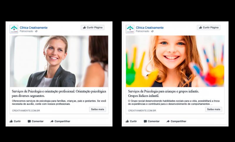 anúncios facebook creativamente