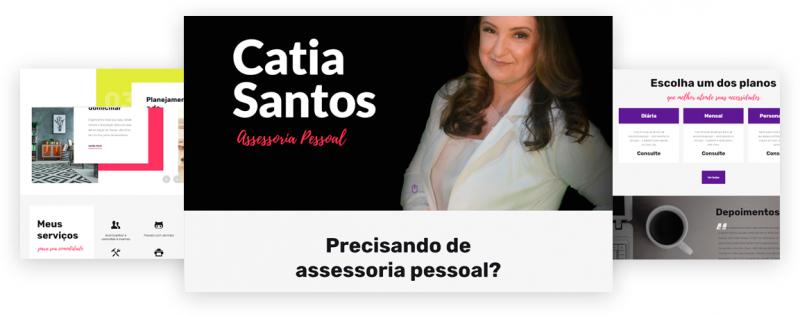 criação de site Catia Santos assessoria pessoal