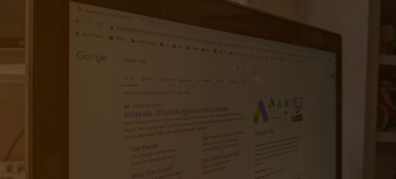 clínica na primeira página do Google