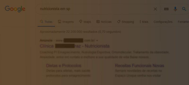 site da sua clínica nas primeiras páginas do Google